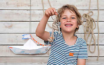 Basteln mit Kindern: Maritimer Schlüsselbund