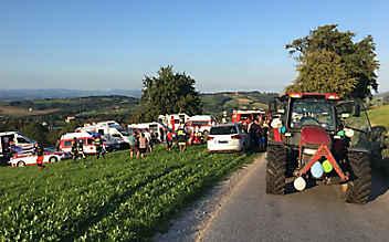 Traktorunfall bei Polterabend: Braut verstorben