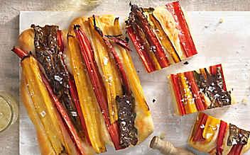 Brotfladen mit Mangold