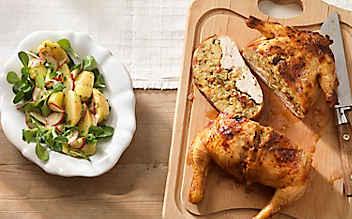 Huhn mit Mandelfülle