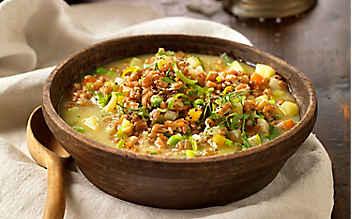 Gemüseeintopf mit Dinkel