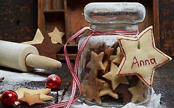 Sternen-Kekse aus Mürbteig