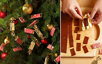 Karamell-Zuckerln für den Christbaum