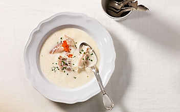 Räucherfisch-Suppe
