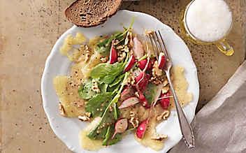 Radieschen-Salat mit Graukäse