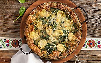 Spinat-Omelette mit Artischoken