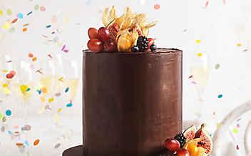 Mohn-Torte mit Ganache