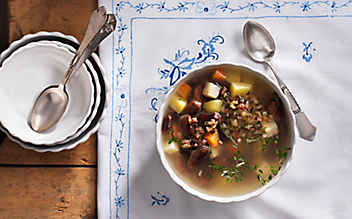 Karnische Bohnensuppe
