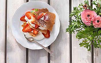 Millefeuille mit Erdbeeren & Topfenschaum