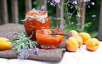 Marillen-Marmelade mit Lavendel