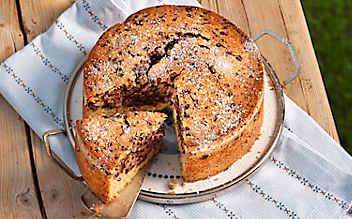 Kuchen mit Hollerbeeren
