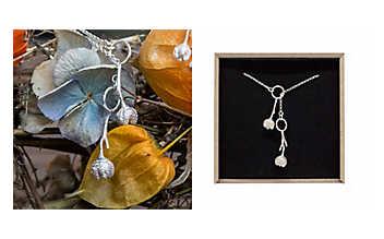 Silber-Halskette Weinraute