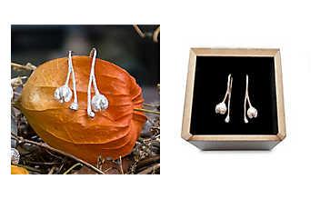 Silber-Ohrringe Weinraute