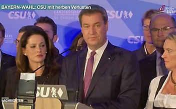 Bayern-Wahl: CSU muss herbe Verluste hinnehmen