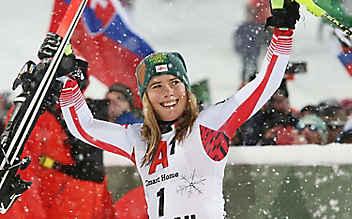 Erster Podestplatz für Katharina Liensberger