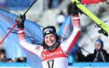 Erster Sieg von Ramona Siebenhofer