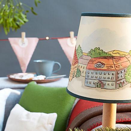 Handbemalter Lampenschirm
