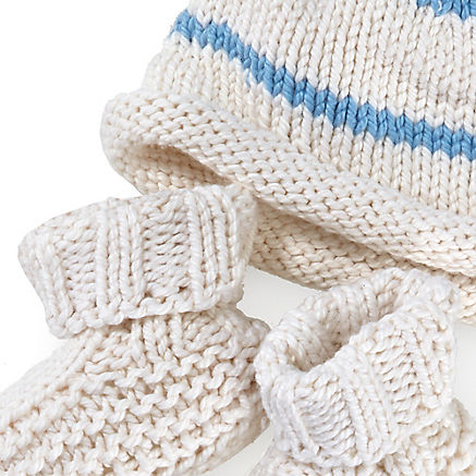 Strickset Baby Blau