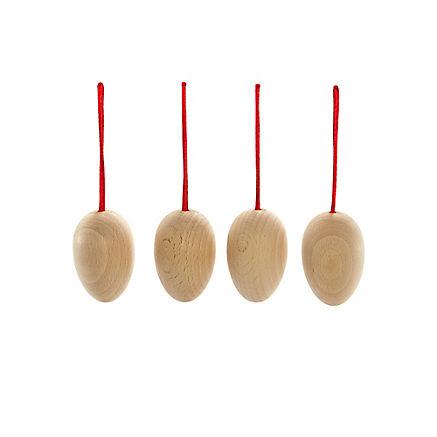 4er-Set Holz-Ostereier zum Bemalen