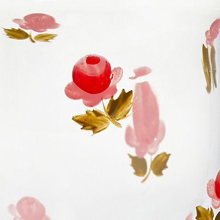 Handbemalte Glasvase Rosen