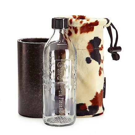 Glas-Trinkflasche Kuhflecken