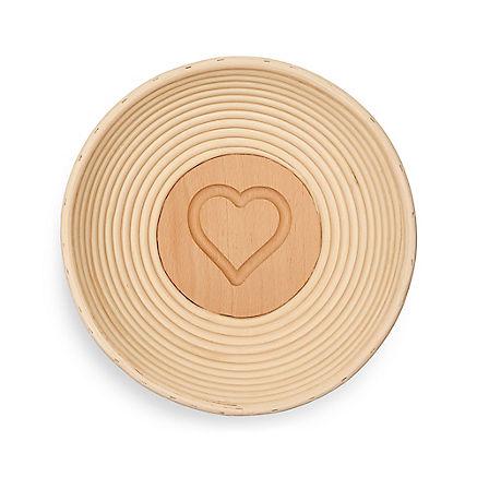 Brotform mit Herz-Motiv