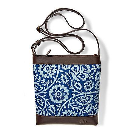 Handtasche mit Blaudruck