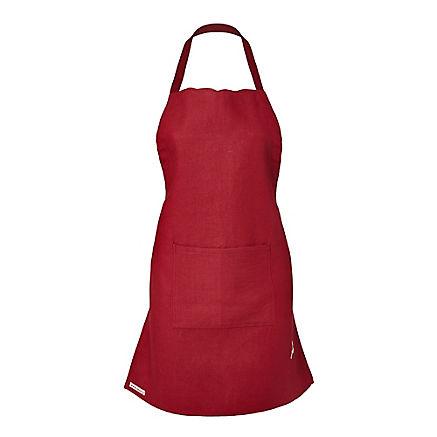 Rote Leinen-Kochschürze