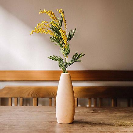 Blumenvase aus Zirbe