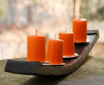 Kerzenhalter aus Fassdauben
