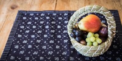 Blaudruck-Tischset